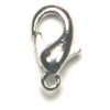 Lobster Clasp 10mm Rhodium Plated